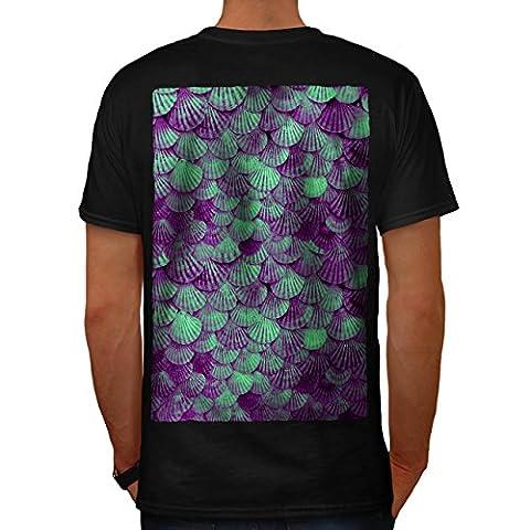 Ozean Meer Schale Natur Unterwasser- Herren XL T-shirt Zurück | Wellcoda