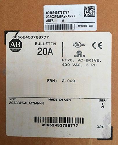20AC3P5A0AYNANNN Allen Bradley inverter AC Drive PF70 Power Flex 70 1,5kW 400VAC 3PH new factory packaging neu OVP 662453788777 -