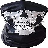 3 Stück Premium Sturmmaske Totenkopf Schwarz Skull Maske Multifonction Sturmmaske Ghost für Motorrad Fahrrad Ski Paintball Gamer Karneval Kostüm