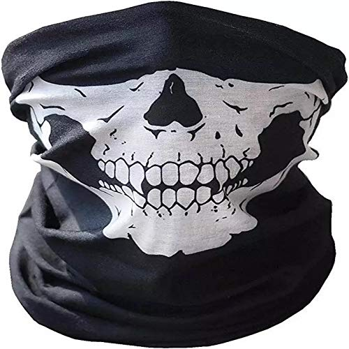 3 Stück Premium Sturmmaske Totenkopf Schwarz Skull Maske Multifonction Sturmmaske Ghost für Motorrad Fahrrad Ski Paintball Gamer Karneval ()
