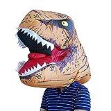 UNiiyi Máscara Inflable Arnés Halloween Cosplay Tyrannosaurus Arnés Inflable Talla única para Adultos