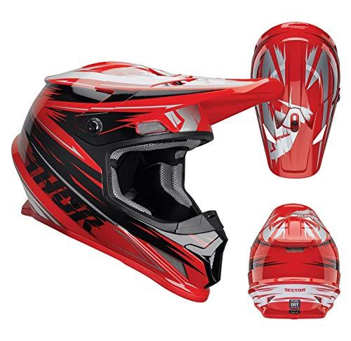 Thor Sector Warp Motocross Helm Rot L (59/60) (Erwachsene Thor Helm)