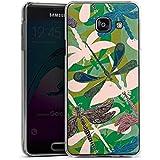 Samsung Galaxy A3 (2016) Housse Étui Protection Coque Libellules Fleurs Fleurs