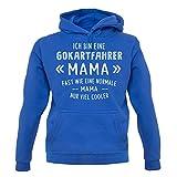 Ich bin eine Gokartfahrer Mama - Unisex Hoodie/Kapuzenpullover - Blau - M
