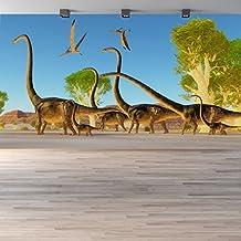 Brontosaurio Fotomurales Dinosaurio murales pared Dormitorio de los niños Decoración del hogar Disponible en 8 Tamaños Gigantesco Digital