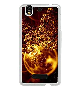 Fuson Designer Back Case Cover for YU Yureka :: YU Yureka AO5510 (Foam Foamy Orange Shining Foam Orange Foam)