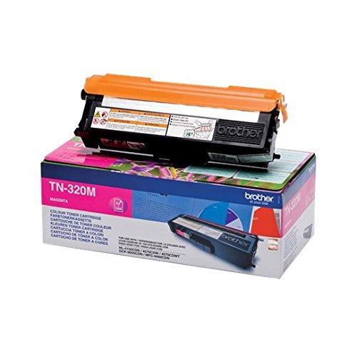 Brother Original Tonerkassette TN-320M magenta (für Brother HL-4140CN, HL-4570CDW, HL-4150CDN, HL-4570CDWT, DCP-9055CDN, DCP-9270CDN, MFC-9460CDN, MFC-9970CDW, MFC-9465CDN) (Brother Mfc 9970-toner)