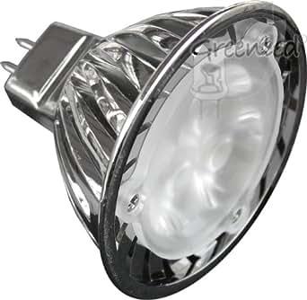GreenLED MR1603-w SSC LED Reflector Bulb High Power 12 V 3.8 W GU5.3 Cree 50 mm White