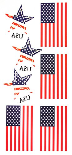 Staaten von Amerika (USA) Flagge temporäre Tattoos (Usa Temporäre Tattoos)