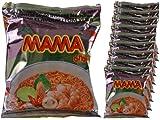 Mama - Asia Nudeln Shrimp Tom Yum Geschmack - 10er Pack (10 x 60g Beutel) - Thai Nudelsuppe