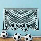 Dalxsh Junge Wandtattoo Fußball Fußball Tor Net Vinyl Aufkleber Für Kinderzimmer Dekoration Sport Schlafzimmer Dekor Kindergarten Kunst37X60 Cm