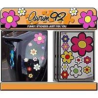 Aurum92 Funky Flower Car Stickers - Pack of 30