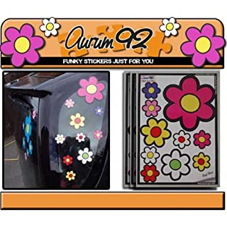 Aurum92 Funky Flower Car Stickers - Pack of 30