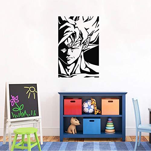 Goku Dragon Ball Z Anime Poster Wandaufkleber Grafik Wohnkultur Kunst Raumdekoration Vinyl cartoon aufkleber für kinderzimmer 57 * 86 cm