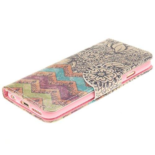 iPhone 6 / 6S Hülle im Bookstyle, Xf-fly® PU Leder Flip Wallet Case Cover Schutzhülle für Apple iPhone 6 / 6S(4.7 Zoll) Tasche Handytasche Schutz Etui Schale Handyhülle P-10