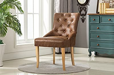 Linen Fabric Accent Chair Dining Chair For Home & Commercial Restaurants [Brown* Grey* Red* Cream*] - inexpensive UK light store.