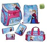 Familando Disney die Eiskönigin Schulranzen-Set 7tlg. Scooli Campus Up Frozen Magic mit Sporttasche Federmappe und Regenschutz