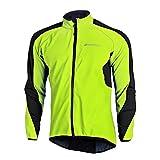 Fitsund Fahrrad Jacke Herren Fleece Langarm Winter Radjacke MTB Jacket ( Grün, XXL )