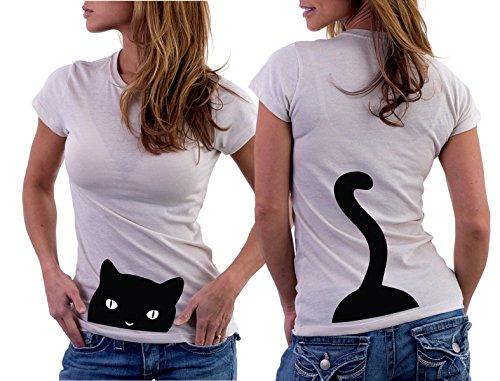 T-shirt Gatto, cat, muso , coda tutte le taglie uomo donna maglietta by tshirteria