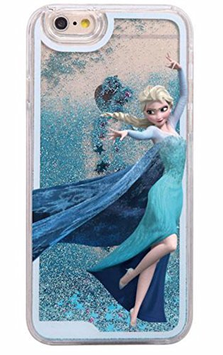 Phone Kandy® Disque Transparent Phone Case Shell Glitter étoiles étincelle avec Cartoon Elsa