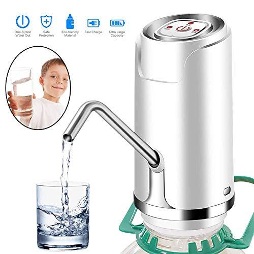 DIMOWANNGG Elektrische Trinkwasserpumpe Wasserspender Automatische Wasserpumpe USB Wiederaufladbar Trinkwasserflasche, Leise und sicher, geeignet für zu Hause/büro/Outdoor
