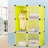 Armario de plástico armario de gabinete portátil DIY organizador de...