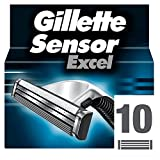 Gillette Sensor Excel Razor Blades for Men Pack of 10 Blades