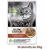 Pro Plan Cat Sterilised Rind, 24er Pack (24 x 85 g)
