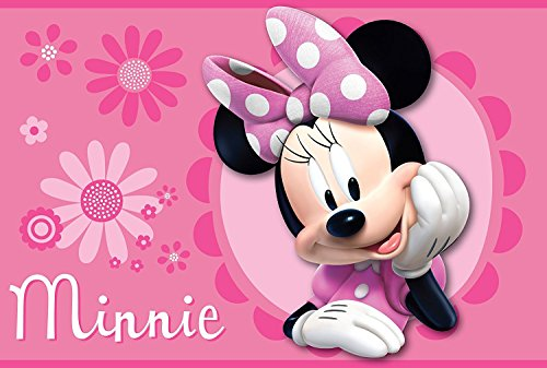 Disney all New Marvel 137,2 x 203,2 cm Super Morbido Tappeto con Fondo Antiscivolo, Poliestere e Misto Poliestere, Minnie, 54' x 80'