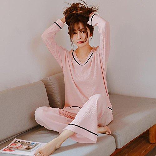 Vestiti molli casuali bianchi del V-Neckline della biancheria intima dei 2 pezzi del cotone delle donne, 3 colori pink