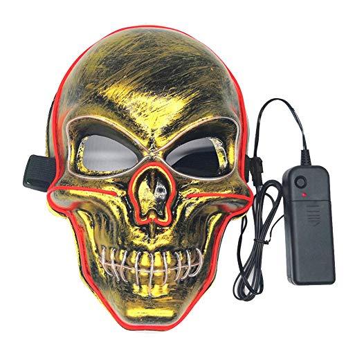 Liery Masken, Halloween Skeleton Form Leuchtende Maske Männlich Weiblich Persönlichkeit Karneval Nacht Cosplay Ball Party Masken Street Dance Maske