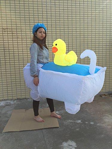 Kostüm Halloween Betrieb (TlueTathtub Ostern Karneval 2016 Neue Kostüm Kostüm Halloween Aufblasbare Badewanne Heiß Verkaufen Tuch, Weiß, L, Aufblasbare)