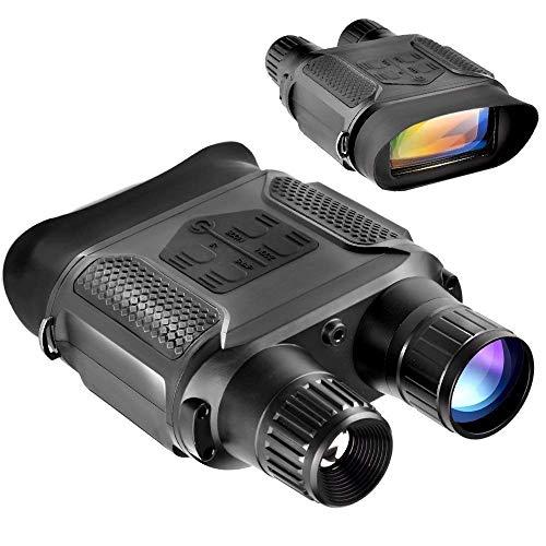 ZAIHW Nachtsichtfernglas/digitales Infrarot-Nachtsichtgerät 720p HD-Fernglas mit 2-Zoll-LCD- und 7X-Vergrößerungs-IR-Kamera mit Videorecorder-Funktion Tag und Nacht für Wildlife, Angeln, Vogelbeobac