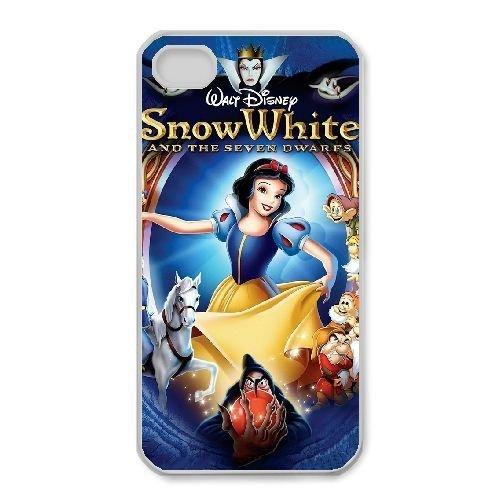 iphone4 4s White phone case Disney Cartoon Comic Series Snow White and the Seven Dwarfs QBC3082697