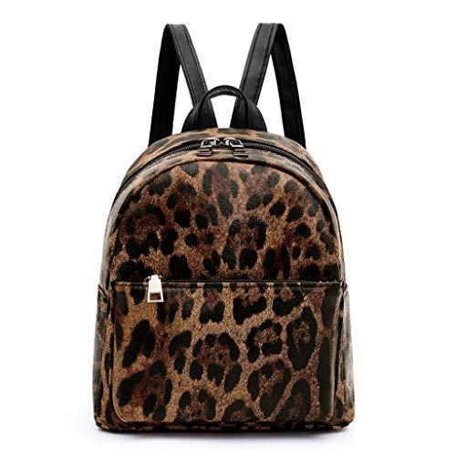 Finebo Rucksack : Damenmode Leopard Snake Umhängetasche Mode Handtasche Rucksack Paket (Braun,) Leopard Snake