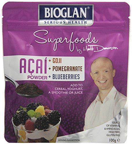 Bioglan Superfoods Acai-, Goji-, Granatapfel- & Blaubeerpulver, 1er Pack (1 x 100 g)