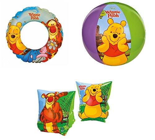 Intex kit n 1mare braccioli palla ciambella winnie the pooh bambino