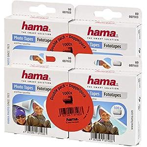 Hama Fototapes (2000 Stück, 2-seitig selbstklebend, Spenderbox, säurefrei, lösemittelfrei, geeignet für Alben…