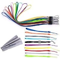Paquete de 20pcs colorido mano muñeca/correas de cuello cuerdas de seguridad//Paquete de cuerdas para unidades flash USB, llaves, llavero, ID Nombre Etiqueta Badge Holders, Video game