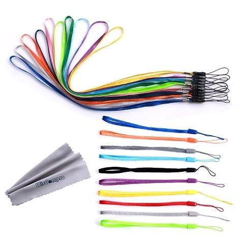 Bundle 20Stück Colorful Hand Handgelenk/Hals Lanyards/Straps/Saiten Pack für mobile Handys, Kameras, USB-Stick, Schlüssel, Schlüsselanhänger, ID Namensschild Ausweishalter, Video, Spiel
