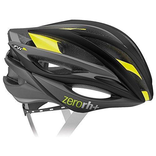 RH+ Casco Bike ZW Black-Bridge Matt Yellow Fluo L/XL Unisex Adulto