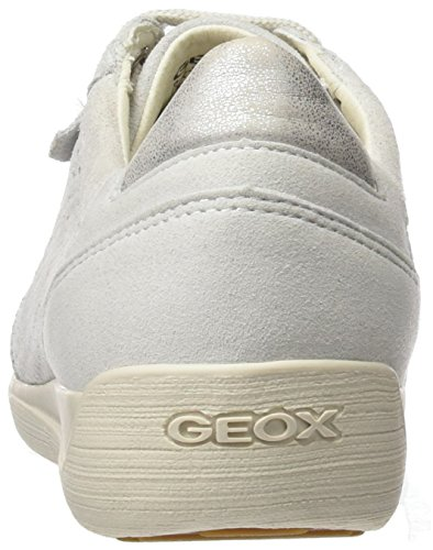 Geox D Myria B, Zapatilla Donna Bianco (blanco Apagado)