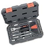 Crescent CTK45NEU 45-Teilige 1/4 Zoll Drive Werkzeugset in Praktischen Kunststoffkoffer