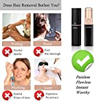 Womens Facial Hair Remover Painless Womens Face Electric Shaver Bikini Trimmer Light Hair Remover Epilator With 2 Replacement Heads