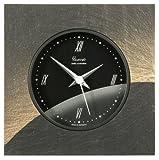 Vaerst 2627 Funk-Tischuhr aus Naturschiefer, Airbrush Design, Mond, Bi-Color, Softlinegehäuse