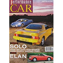 Performance CAR magazine 11/1989 featuring Panther Solo 2, Lotus Elan SE, Porsche Carrera