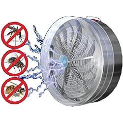 QUICKLYLY Lámpara Antimosquitos Energía solar LED UV Trampa para Insectos del Mosquito del Insecto Exterior No Tóxicos de Escape Bug Zapper la Sala Jardín Insecto Asesina