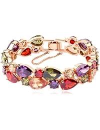 MARENJA cristal-bracelet Women Rose Gold Plate Colourful Austrian Crystal Fashion Jewelry