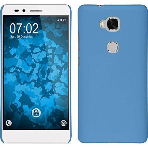 PhoneNatic Case kompatibel mit Huawei Honor 5X - Hülle hellblau gummiert Hard-case Cover 5 X Hard Case