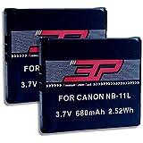 2x LOOKit® - Batterie Lithium-Ion NB-11L pour Canon ixus 175 IXUS 180 IXUS 285,, Canon SX410 / Canon IXUS 160 / Ixus 165 / Ixus 170 / Canon SX400 / IXUS 265 / Canon Ixus 145 / Canon Ixus 150 / Canon Ixus 155 / IXUS 125 HS / Canon IXUS 240 HS